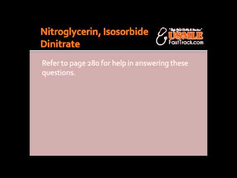 Nitroglycerin, Isosorbide Dinitrate - Mechanism, Clinical Use & Toxicity