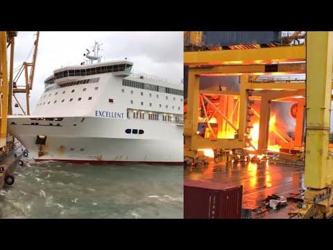 Laiva törmää satamaan – Hurja video!