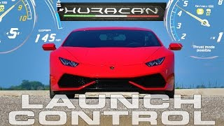 145 MPH Launch Control How To Demonstration in the Lamborghini Huracan LP610-4 by DragTimes
