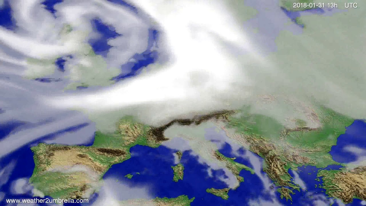 Cloud forecast Europe 2018-01-28
