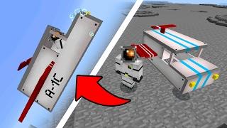 FLYING SPACESHIP in Minecraft Pocket Edition!!! (Spaceship Addon)
