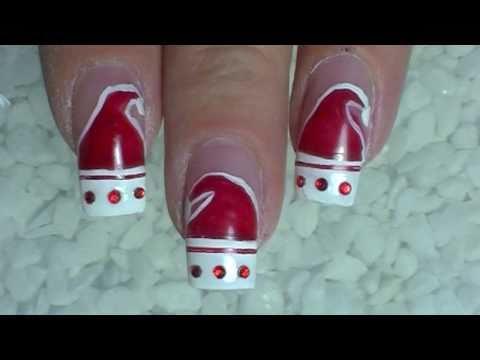 Nail Art Design ❄ Christmas ❄ Santa Claus is coming to nails ❄ Tutorial