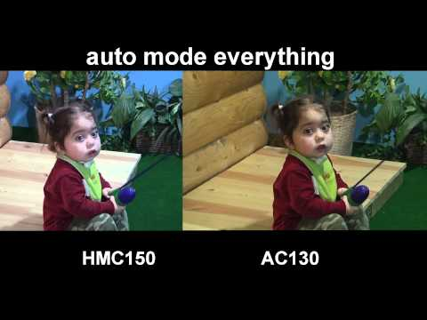 hmc 150 - Here is some footage of my 2 cameras. HMC 150 AC130 I will let you decide what you like best. Everything is on auto mode. This was filmed in my basement with...