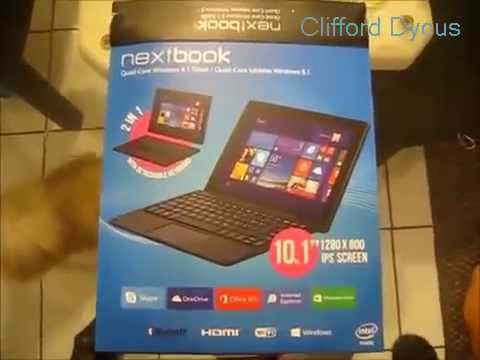 Nextbook 10.1 Intel Quad Core 2 in 1 Det Review Video