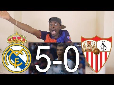 Barcelona Fan React To Real Madrid vs Sevilla 5-0 All Goals & Highlights