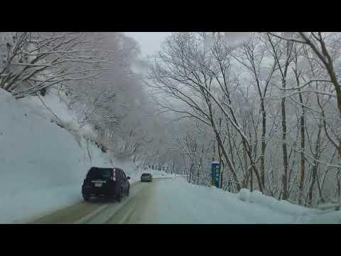 雪景色のいろは坂 車載動画 黒髪平から日光二荒山神社中宮祠まで