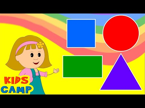 kindergarten - Watch the BEST of KIDSCAMP Fun & colorful educational videos http://bit.ly/1kmm0SB Learn Shapes with Elly - Circle, Triangle, Rectangle, Square and Learning ...