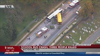 Bus crash in Baltimore kills three