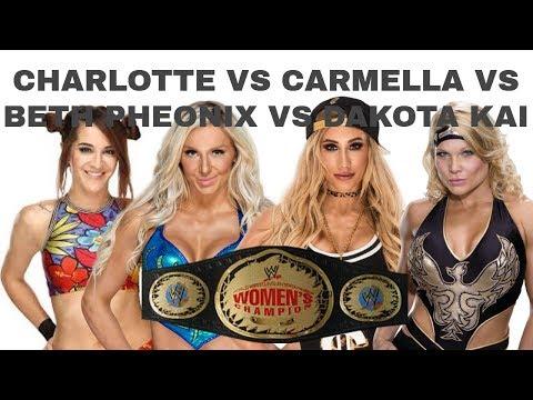 WWE 2K18 CHARLOTTE VS CARMELLA VS BETH PHEONIX VS DAKOTA KAI