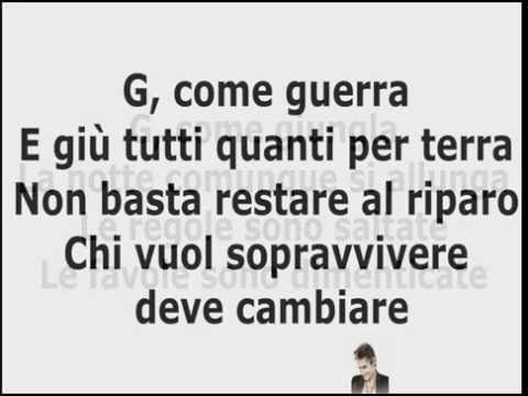 , title : 'Ligabue - G come Giungla TESTO (Official Video-Text)'