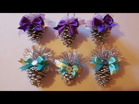 Search result youtube video comodecorar en navidad - Pinas decoradas para navidad ...