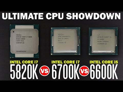 Whats The Best Processor for Gaming? Intel i7 6700k vs Intel i7 5820k vs Intel i5 6600k