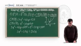 Microeconomía II - La Competencia Perfecta: Ejercicio Práctico (2) - Alfonso Rosa