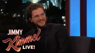 Kit talks about possibly shooting the next season of 'Game of Thrones' and Jimmy tries to hack into Kit's phone in an attempt to find spoilers. Jimmy Kimmel Talks ...