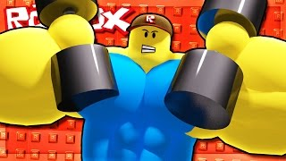 ATTACKED BY GIANT BUFF NOOBS IN ROBLOX!