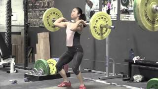 Audra front squat Mary power clean + power jerk Danielle power clean + power jerk Dion front squat - Weight lifting, Olympic, weightlifting, strength, conditioning, fitness, exercise, crossfit - Catalyst Athletics Videos