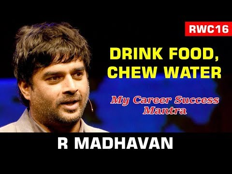 Drink Your Food, Chew Your Water: R. Madhavan At The Rwc16
