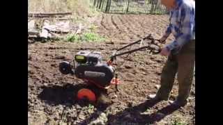Вспашка огорода культиватором T 6.5 800 FB PG  California.avi