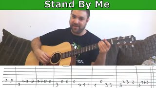 Fingerstyle Tutorial  Stand By Me   W  Tab  Guitar Lesson