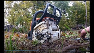 7. How to change a bar on a stihl MS170