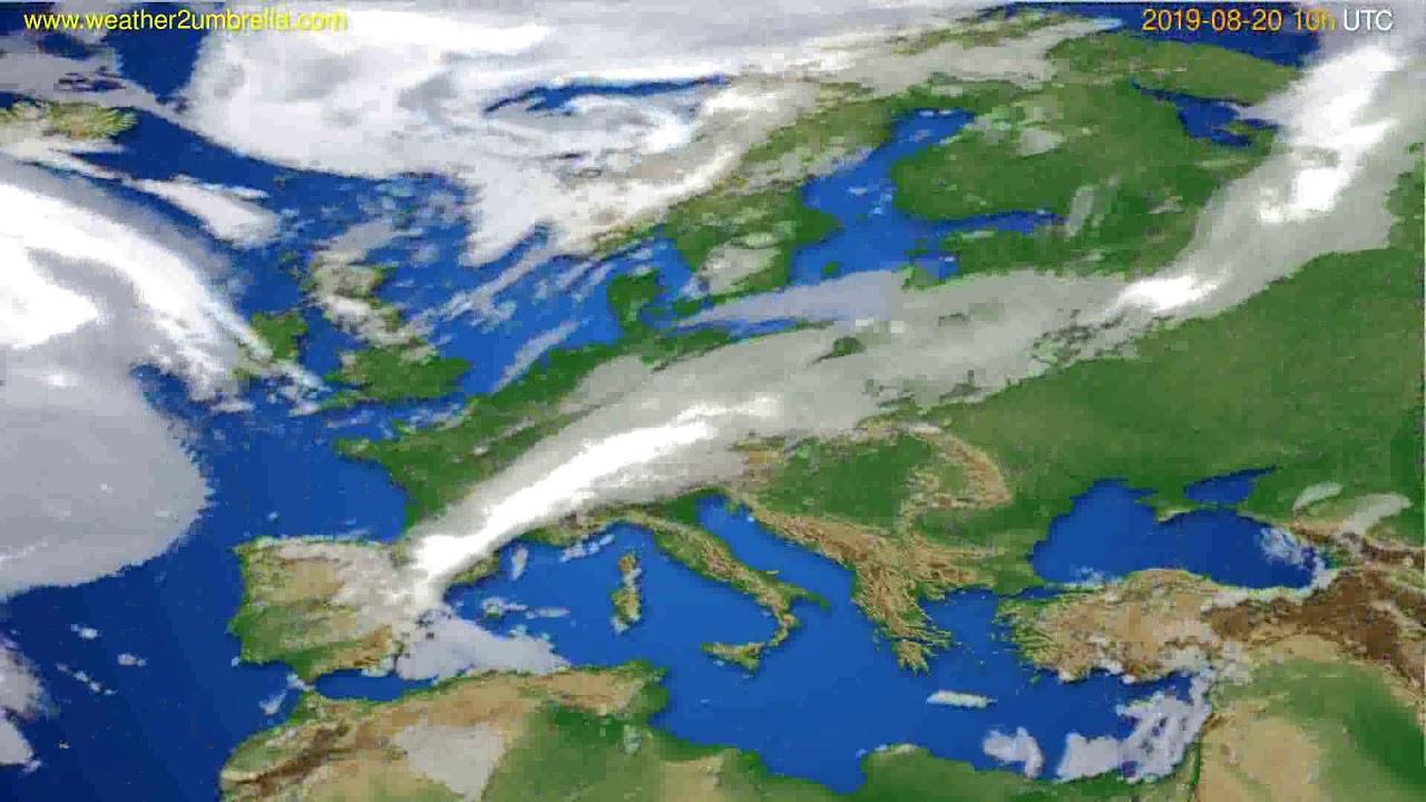 Cloud forecast Europe // modelrun: 12h UTC 2019-08-17