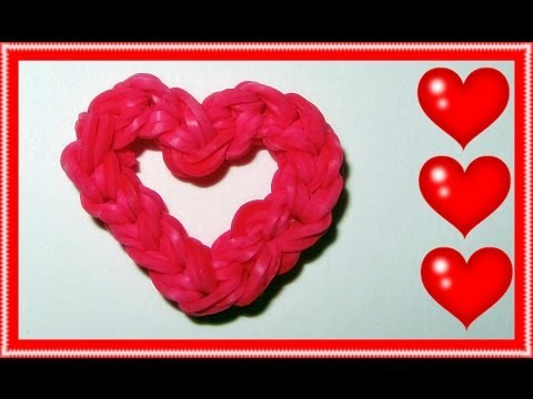 "EASY Rainbow Loom Charms: ""Open Your Heart"" – Mother's Day, Fun Loom, Gomitas"