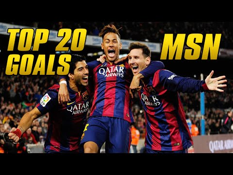 TOP 20 Goals ● MSN (Messi, Suárez, Neymar) ● All 2014/15 Competitions ● HD