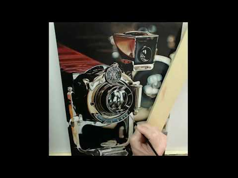 """Zoom"" Time Lapse Acrylic Painting"