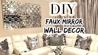 DOLLAR TREE DIY Faux Mirror | THE BEST DIY Home Decor/Wedding 2017
