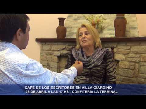 CAFE DE LOS ESCRITORES - SABADO 28 A LAS 17: TE INVITAMOS AL CAFE LITERARIO EN VILLA GIARDINO