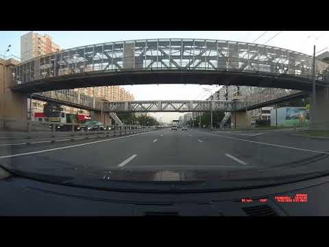 ACV GX5000 комбо видеорегистратор снимает московских отморозков