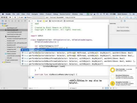 Learn To Build Your First Professional iOS App - Core Data Manager Class Part B