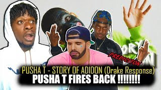 Pusha T - Story Of Adidon (DRAKE DISS RESPONSE!) REACTION!