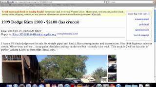Craigslist El Paso Texas - Used Cars and Ford and Dodge Trucks Under $2500 Available