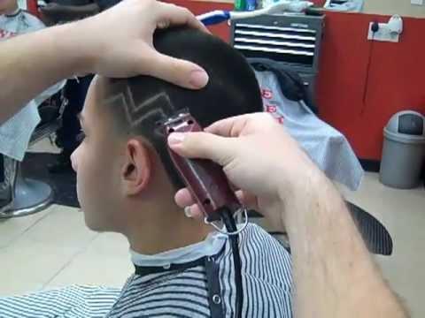 Corte de cabello con figura