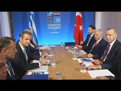 Συνάντηση του πρωθυπουργού Κυριάκου Μητσοτάκη με τον Ρετζέπ Ταγίπ Ερντογάν