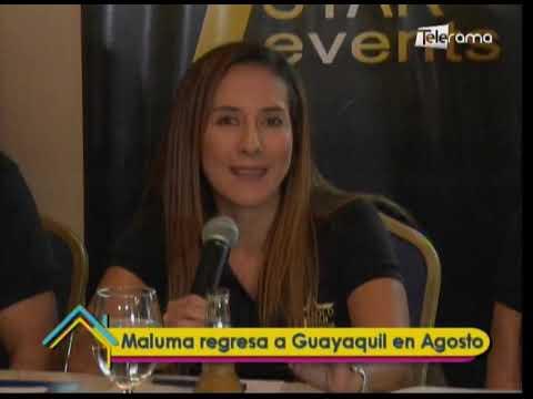 Maluma regresa a Guayaquil en Agosto