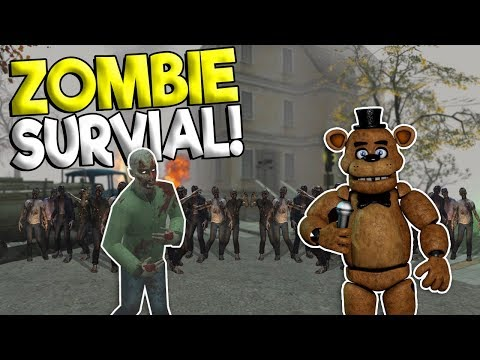 ZOMBIE APOCALYPSE TOWN SURVIVAL & ESCAPE! - Garry's Mod Sandbox Gameplay - Gmod Zombie Survival (видео)