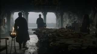 Stannis informs Davos of Robb Stark's death, which he attributes to Melisandre's ritualistic burning of the leeches. Melisandre plans to burn Gendry as a sacrifice to the Lord of Light, and although Davos tries to get Stannis to spare Gendry, Stannis orders he be sacrificed.