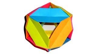 Октаэдр из бумаги. 3D поделки оригами