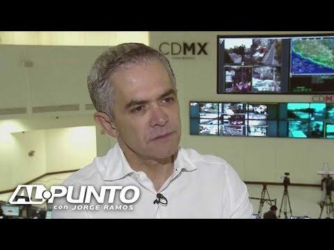 """""""La consigna en este momento es búsqueda y rescate"""", asegura Miguel Ángel Mancera"""