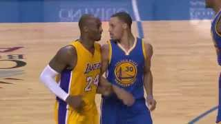Kobe Gives Curry Respect After Draining Long Three