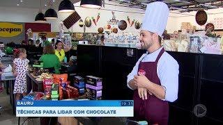 Bauru: técnicas para lidar com chocolate