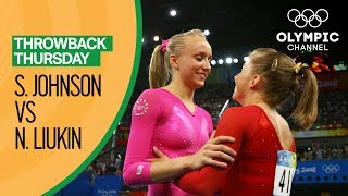 An intriguing all-American contest sees Nastia Liukin face Shawn Johnson in the Women's All-Around Artistic Gymnastics in Beijing 2008.Subscribe to the official Olympic channel here: http://bit.ly/1dn6AV5