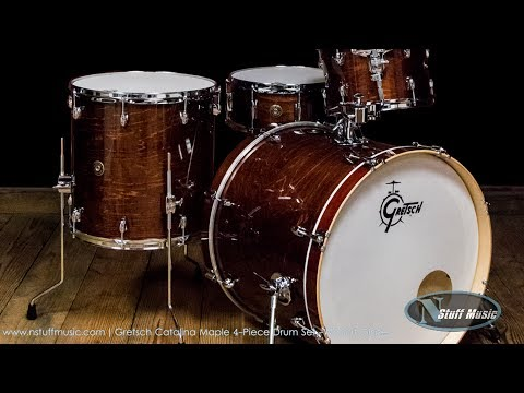 Gretsch Catalina Maple 4-Piece Drum Set - Walnut Glaze