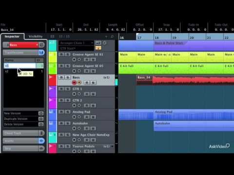 Cubase 7.5 101: Introducing Cubase 7.5 – 12. TrackVersions for Recording