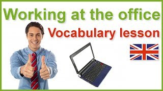 Working at the office, English vocabulary lesson with subtitles