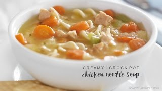 This crock pot creamy chicken noodle soup is probably my very favorite soup recipe. Besides the fact that it is super delicious and...