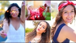 Fourth of July Outfit ideas, DIY Treats + Hair & Makeup! - YouTube