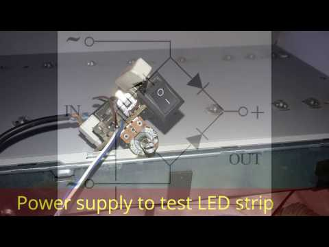 How to build a power supply to test LED strip for LED TV. Home made device. All brand.